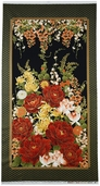 Imperial Garden Metallic Cotton Fabric Panel