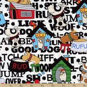 In the Dog House Houses Cotton Fabric - Multi 05875-99