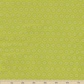In the Meadow Floral Cotton Fabric - Avocado