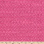 In the Meadow Floral Cotton Fabric - Pink