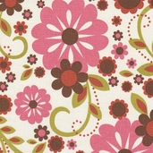 Indian Summer Cotton Fabric - Pink