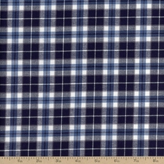 Indigo Plaid Shirting
