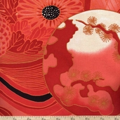 Indochine Aki Bonsai Sheeting Cotton Fabric - Red