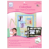 Inkjet Colorfast Fabric Sheets 8.5in. x 11in. 3 Sheets - Cream