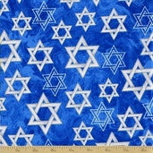 Inspiration Cotton Fabric - Star of David - Blue