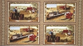 International Harvester Cotton Fabric - Panel - CLEARANCE