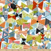 Interplay Bowtie Cotton Fabric