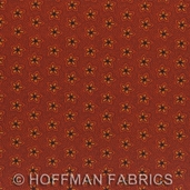 Ipanema Cotton Fabric - Rust Flowers