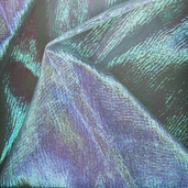 Iridescent Organza Solid Polyester Fabric - Blue