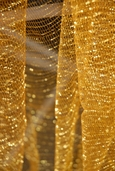 Iridescent Tulle Netting - Antique Gold