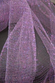 Iridescent Tulle Netting - Antique Lavender Purple Fuchsia