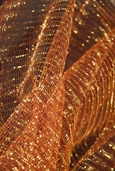 Iridescent Tulle Netting - Red Gold