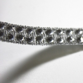 Iron on Jewel Trim - Silver