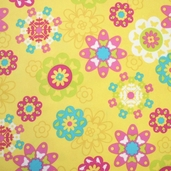 Irving Street Flannel - Flower Power Yellow