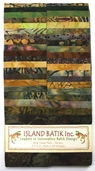 Island Batik Strip Pack - Truffle