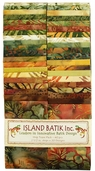 Island Batik Strip Tease Pack - Curry Spice