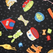 It's A Dog's Life Fabric - Black