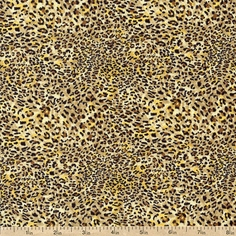 It's A Jungle Out There Cheetah Cotton Fabric - Yellow - Clearance