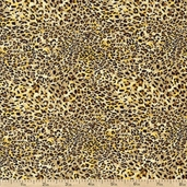 It's A Jungle Out There Cheetah Cotton Fabric - Yellow
