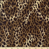 It's A Jungle Out There Leopard Cotton Fabric - Brown - Clearance