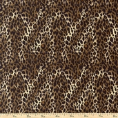 It's A Jungle Out There Small Leopard Cotton Fabric - Brown