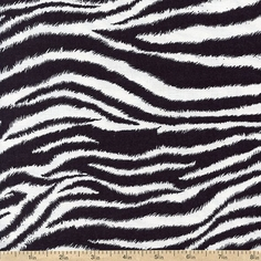 It's A Jungle Out There Zebra Cotton Fabric - Black