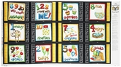 It's Elementary Book Panel Cotton Fabric - Multi 1435-83740-915S