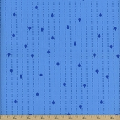 Jack and Jenny Stripe Dots Cotton Fabric - Water AWN-12531-240 WATER - CLEARANCE