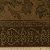 Jacquard Woven Tapestry Fabric - 55 in. - Spice  - Clearance