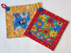 James Thompson Free Sewing Pattern - Potholders Pattern
