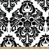Jessie Steele Cotton Fabric - Black and White JESSIE-C9873