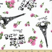 Jessie Steele Paris Toile Cotton Fabric C9881