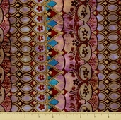 Jewels of India Cotton Fabric - Border Stripe - Jewel