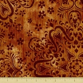 Jewels of India Cotton Fabric - Scroll - Jewel
