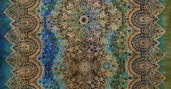 Jewels of India Cotton Fabric - Turquoise