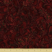 Jinny Beyer Cotton Fabric - Floral - Holiday Red