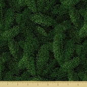 Jinny Beyer Holiday Cotton Fabric - Pine - Green