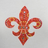 Jolee's Jeweled Iron-on - Fleur Di Lis - Clearance