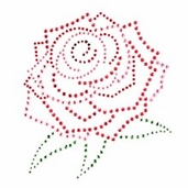 Jolee's Jeweled Iron-on - Rose Medallion - Clearance