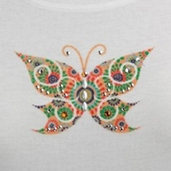 Jolee's Jeweled Iron-on Trim - Spriral Butterfly - Clearance