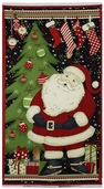 Jolly Christmas Door Panel Cotton Fabric