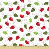 Joy Cotton Fabric - Light Toss - Snow White