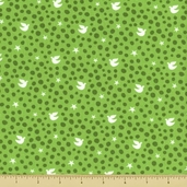 Joy Cotton Fabric - Peace - Holly Green
