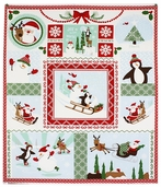 Joy Gift Wrap Panel Cotton Fabric - Multi 27120-11