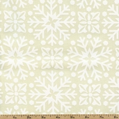 Joy Packed Snowflakes Cotton Fabric - White 27124-32