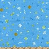 Jungle Buddies Designs Flannel Fabric - Blue