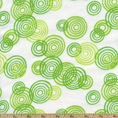 Jungle Buddies Spiral Circles Flannel Fabric - Green