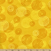 Jungle Buddies Spiral Circles Flannel Fabric - Yellow