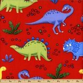 Jungle Club Cotton Fabric - Red 02252-10