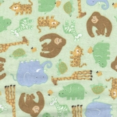 Jungle Fever Cotton Flannel Fabric - Green